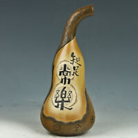 Chinese Exquisite Ceramic  Vase Collectibles  Carved Gourd Shape Vase FL041