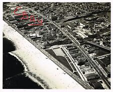 WWII ERA USAAF AERIAL 11X14 PHOTOGRAPH OVER THE NEW YORK CONEY ISLAND AREA LOOK