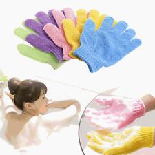 3PCS Exfoliating Gloves Mitt Bath Shower Scrub Tan Dead Skin Removal Scrubs New