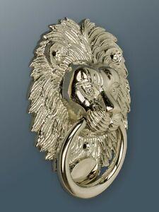Brass Bee Door Knocker - Nickel Finish - Solid Brass Lion Door Knocker
