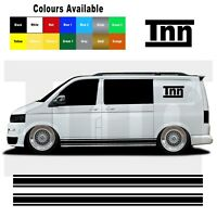 Side Stripe Stickers For VW Transporter T5 T6 T4 Sticker Decal Vinyl Camper