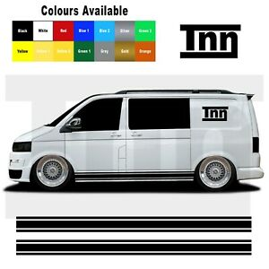 Side Stripe Stickers For VW Transporter T5 T6 T4 Sticker Decal Vinyl Camper
