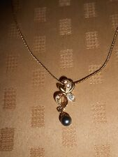 Costume Jewellery Gold Plated Chain with Pearl Drop