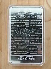 10 oz .999 Silver UK Great Britain James Bond 007 Royal Mint Bar No Time To Die