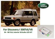 LAND ROVER DISCOVERY I V8/300Tdi 94 - 98 FULL interior 58 bulbs LED KIT
