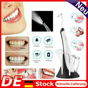 Ultraschall Zahnsteinentferner Set Elektrisch Entferner Whitening Zahnreiniger~~