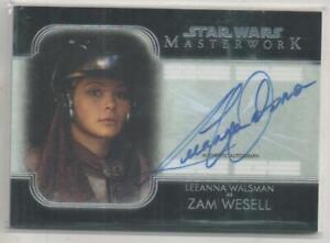 """STAR WARS Masterwork Trading Card No.A-LW Leeanna Walsmann """"Zam Wesell"""""""