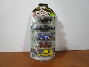 RACING CHAMPIONS 1/64 FAST AND FURIOUS 5 PACK W/ 1995 HONDA CIVIC EX & OTHERS