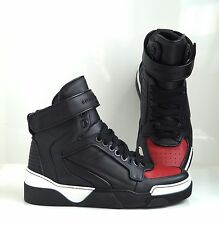 Givenchy Tyson Two Tone Leather High Top Sneakers - Size 40