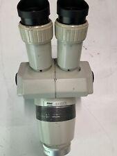 Nikon SMZ-1B Stereozoom Microscope 0.8x-3.5x w/ WF 15x Eyepieces, 0.7x Objective