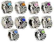 10 Mixed Rhinestone(10Colors) Beads Fit Charm Bracelet