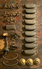 Lot of 21 Old Vintage Drawer Pulls & Misc Hardware. Brass, Cast, other_