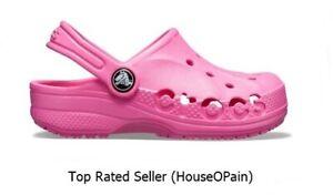 New Crocs Kids Baya Clog neon magenta c12 Iconic 205483-6L0