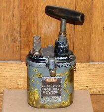 Vintage CIL No 10 TWIST Fidelity blasting machine dynamite/detonator FREE SHIP!