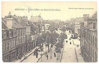 CPA 03 - MOULINS (Allier) - Place d'Allier vue prise du Sacré-Coeur