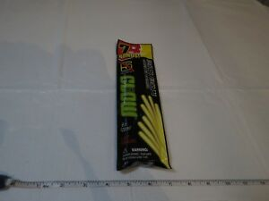 7 pack neon yellow play glow bracelets 8 in. 20 CM lasts for hours sticks connec