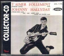 JOHNNY HALLYDAY  CD COLLECTOR VOGUE EPL 7.750 T'AIMER FOLLEMENT état PARFAIT