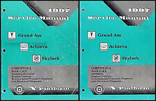 1997 Grand Am Achieva Skylark Shop Manual Set 97 Buick Pontiac Oldsmobile Olds