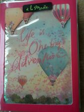 CLINTONS CARDS SHAKER BIRTHDAY HOT AIR BALLOONS SEALED NEW