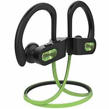 In Ear Headphone Bluetooth Wireless Earbuds HiFi Stereo Earphone Mic Lime Green