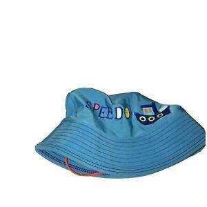 Baby Speedo Bucket Hat Size Tug Boat Blue UV 50 small unisex girl boy 21-2289