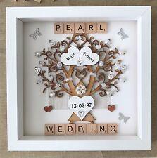 Personalised Handmade Pearl 30th Wedding Anniversary Gift Keepsake Box Frame