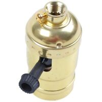 Chandelier E27 Retro Edison Lampenfassung Mit Schalter 110-220v Gold I6Y9