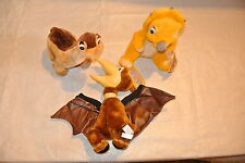 """Rare Plush """"Land Before Time"""" Little Foot, Cera and Petrie Dinosaurus"""