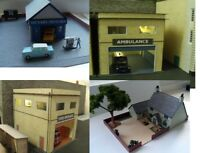 N Gauge  --- Pub , Fire  & Ambulance Stations, Garage