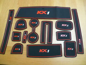 KIA STONIC INTERIOR DASHBOARD MAT GATE PAD WITH LOGO TRIM SET - RED ONLY
