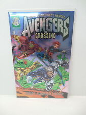 Avengers The Crossing Marvel Comic Book Chromium Cover Vision Iron Man Hawkeye