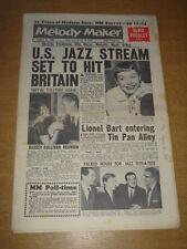 MELODY MAKER 1961 JANUARY 21 US JAZZ SHIRLEY BASSEY ELVIS PRESLEY LIONEL BART +