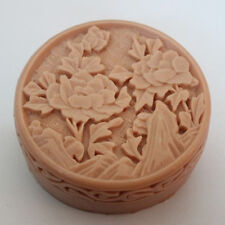 Soap Molds Silicone Craft Candle Soap Making Mould Diy Handmade Mold Peony Round