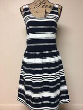 J Crew Blue/white Stripe Tank Dress NWOT Medium