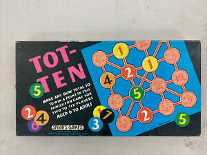 """Vintage """"Tot-Ten"""" board game by Spears Games. Made in England 1970."""