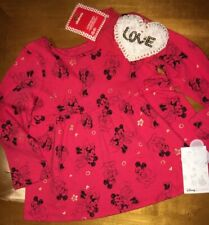 Disney Jumping Beans Minnie Mouse Shirt Sz 18 Month Claire's Valentines Headband