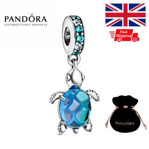 Genuine PANDORA Ocean Murano Glass Sea Turtle Charm Sterling Silver 798939C01