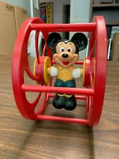 New listing Vtg Mickey Mouse Baby Roller Toy/Rattle+ Goofy Puzzle-Free Us Shipping!