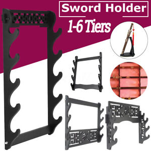 Multi-Tier Wall Mounted Samurai Sword Katana Display Holder Stand Hanger Bracket