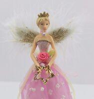 GISELA GRAHAM CHRISTMAS PINK FAIRY PRINCESS FAIRY TREE TOPPER ANGEL SMALL