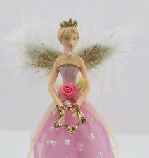 GISELA GRAHAM CHRISTMAS PINK FAIRY PRINCESS FAIRY TREE TOPPER ANGEL SMALL