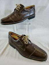 Sandro Moscoloni Vineyard Oxford Men10D Laced Brown Leather Comfort Cap Toe