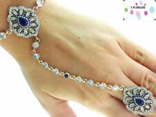 Newl 925 Sterling Silver Hand Chain Slave Boho Bracelet Ring Turkish Jewelry B53