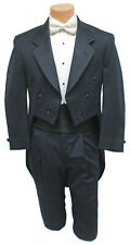 Boys Size 5 Dark Navy Blue Tuxedo Tailcoat with Pants Long Tails Ringbearer