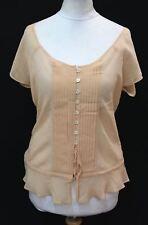 PAUL & JOE Ladies Peach Pink Silk Short Sleeve Tunic Lightweight Top Size L/3