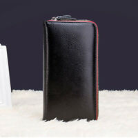 Women Ladies Genuine Leather Long Wallet Bag Case Clutch Coin Card Zipper Purse
