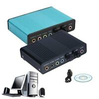 USB 6 Channel 5.1 External Optical Audio Sound Card for Notebook PC