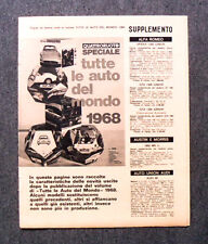 AU36 - Clipping-Ritaglio - 1968 - SUPPLEMENTO DI QUATTRORUOTE , 7 LUGLIO