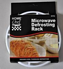 Microwave Defrosting Rack Round  Healthy Crispy Cooking Fat Draining Defrosting