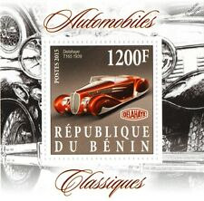 1939 DELAHAYE Type 165 (T165) Cabriolet Supercar Classic Automobiles Car Stamp